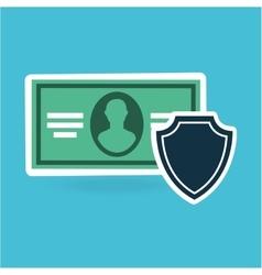Concept protection safety money bill dollar design vector