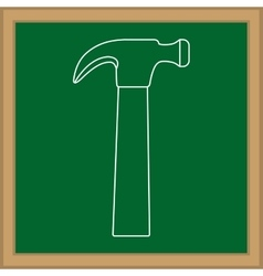 Construction hammer tool vector