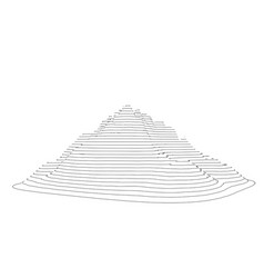 curve lines in shape part mountain range vector image