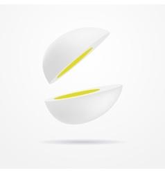 Cut egg vector