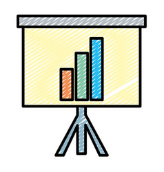 Doodle statistics bar precentation graphic growing vector