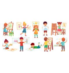 drawing children kid badrawing vector image