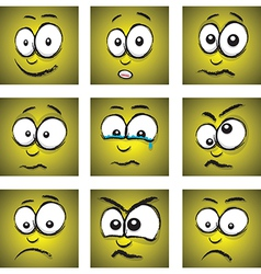 emotions yellow group vector image