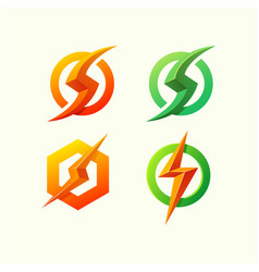 energy logo design vector image