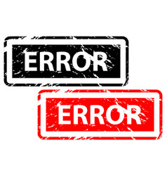 error rubber stamp vector image