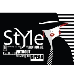 Fashion quote with woman vector