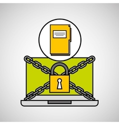 file security internet technology vector image