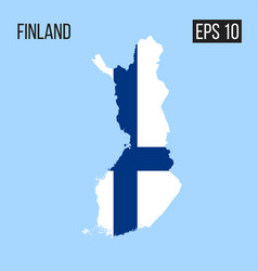 finland map border with flag eps10 vector image