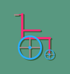 Flat icon design collection medical wheelchair in vector