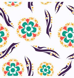 Floral pattern vintage decorative elements vector