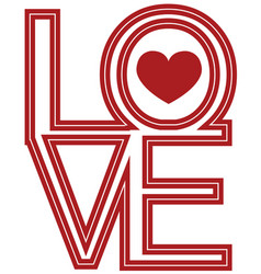 Font type love happy valentines day vector