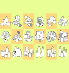 food product set vector image