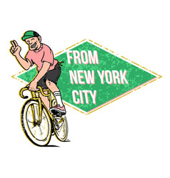 from new york vector image