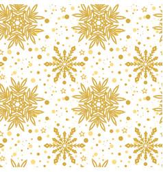 Golden christmas snowflakes bakground vector