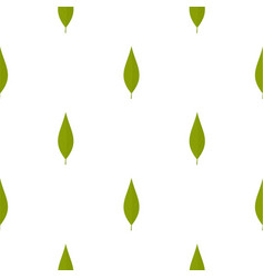 Green leaf of willow pattern seamless vector