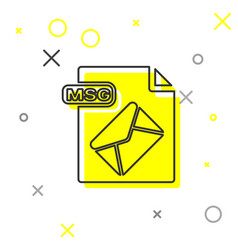 Grey line msg file document download msg button vector