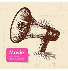 Hand drawn movie Sketch background vector