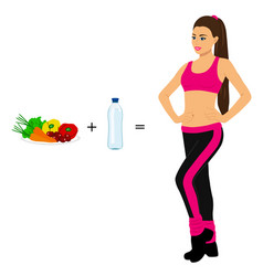 healthy lifestyle healthsports girl vector image