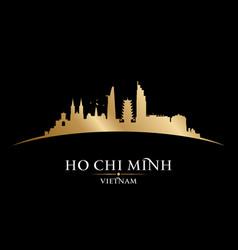 ho chi minh city vietnam skyline silhouette black vector image