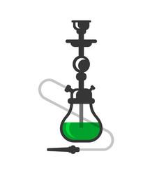 hookah cafe logo design icon on white background vector image