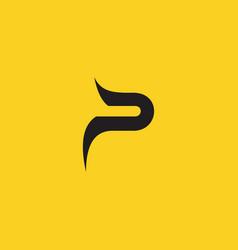 Initial letter p monogram logo design template vector