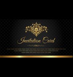 invitation card - luxury vintage style vector image