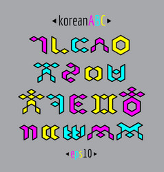Korean alphabet set vector