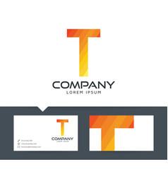 letter t - logo design vector image