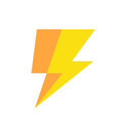 lightning icon simple vector image