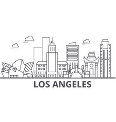 Los angeles architecture line skyline vector