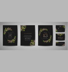 luxury flower wedding save the date invitation vector image