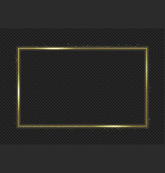 magic golden frame vector image
