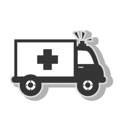 Medical ambulance emergency vector image