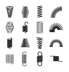 Metal spring icon vector