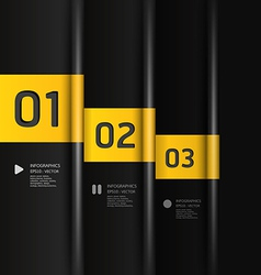 Modern Design template number banners vector