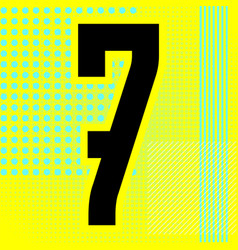 modern font trendy alphabet black number vector image