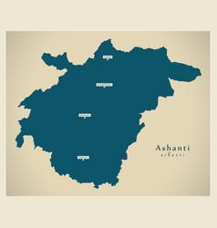 Modern map - ashanti region map ghana gh vector