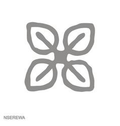 Monochrome icon with adinkra symbol nserewa vector