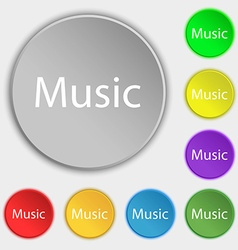 music sign icon Karaoke symbol Symbols on eight vector image