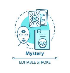 Mystery concept icon occult books idea thin line vector