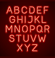 neon light glowing alphabet vector image vector image