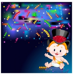 new year baby card vector image