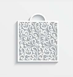 Ornamental paper bag vector
