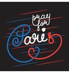 Paris color lettering vector image