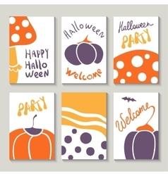 Print templates set for Halloween vector image