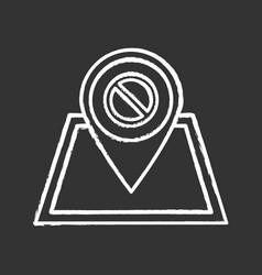 Protest location chalk icon vector