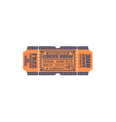 retro circus ticket admit one mention isolated vector image