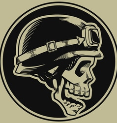 Retro Motorbike Skull Biker Badge vector