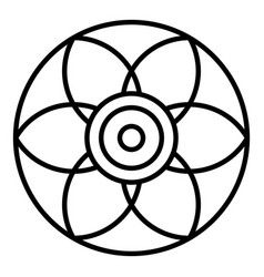 Round flower biscuit icon outline style vector