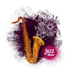 Saxophone sax Jazz music vector